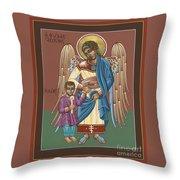 Guardian Angel Guarding Little Elijah Gemmell 191 Throw Pillow
