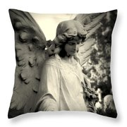 Guardian Angel Watching Over Throw Pillow