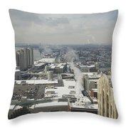 Guardian Building View Throw Pillow