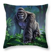 Guardian Throw Pillow by Jerry LoFaro