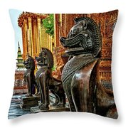Guardian Lions Throw Pillow