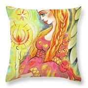Guardian Mother Of Light Throw Pillow