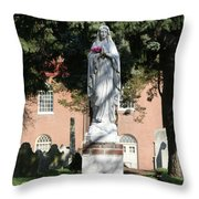 Guardian Of The Cemetery  Throw Pillow