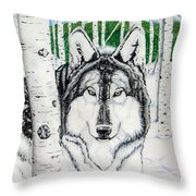 Guardian Of The Forest Throw Pillow