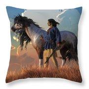 Guardians Of The Plains Throw Pillow
