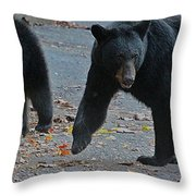 Guarding Her Cubs Throw Pillow
