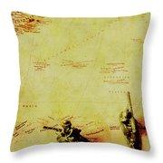 Guarding Histories Untold Throw Pillow