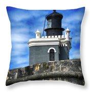 Guarding Lighthouse Throw Pillow