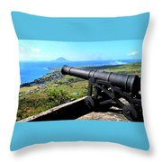 Guarding The Channel Throw Pillow