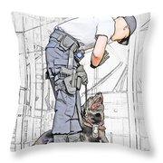 Guarding The City Throw Pillow