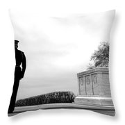 Guarding The Unknown Soldier Throw Pillow