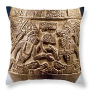 Guatemala: Mayan Vase Throw Pillow