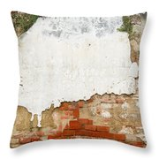 Guatemalan Ancient Wall Antigua Throw Pillow