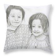 Guatemalan Friends Throw Pillow