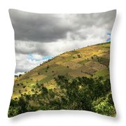 Guatemalan Mountains -  Ciudad Vieja Guatemala Throw Pillow