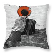 Guatemalan Woman Throw Pillow