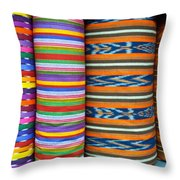 Guatemalan Woven Fabric Throw Pillow