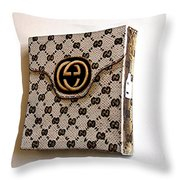 Gucci Bag Throw Pillow