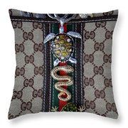 Gucci Monogram With Jewelry 3 Throw Pillow