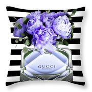 Gucci Perfume Violet Throw Pillow