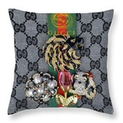 Gucci With Jewelry Throw Pillow