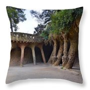 Guell Style Throw Pillow