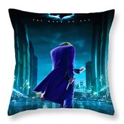 Guess Who Is Coming To Town Throw Pillow