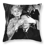 Guess Who's Here Throw Pillow
