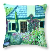 Guest Cottage Throw Pillow
