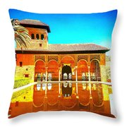 Guest House At The Alhambra Throw Pillow