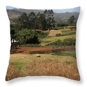 Guge Mountain Range Southern Ethiopia Throw Pillow