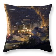 Guggenheim At Night II Throw Pillow