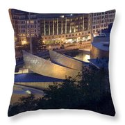 Guggenheim At Night Throw Pillow