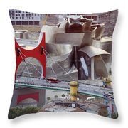 Guggenheim Bilbao Museum II Throw Pillow