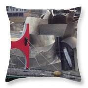Guggenheim Bilbao Museum IIi Throw Pillow