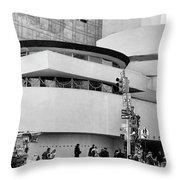 Guggenheim Museum Nyc Bw Throw Pillow