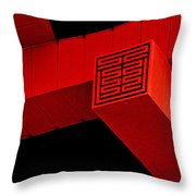 Gugong - Forbidden City Red - Chinese Pavilion Shanghai Throw Pillow