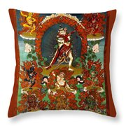 Guhya Sadhana Avalokiteshvara Gyalwa Gyatso  Throw Pillow