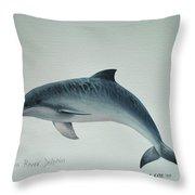 Guiana River Dolphin Throw Pillow
