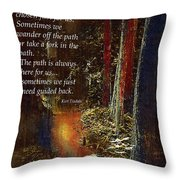 Guide Me Back Throw Pillow