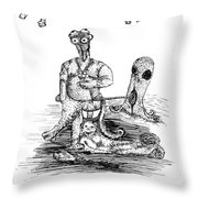 Guide Me For I Am Blind Throw Pillow
