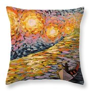Guided By The Lights Throw Pillow
