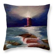 Guiding Night Light Throw Pillow