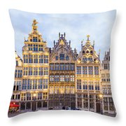 Guild Houses At The Grote Markt Throw Pillow
