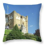 Guildford Castle Throw Pillow