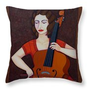 Guilhermina Suggia - Woman Cellist Of Fire Throw Pillow