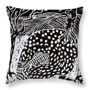 Guinea Fowl Under The Stars Throw Pillow