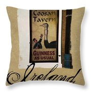 Guinness As Usual Athlone Ireland Throw Pillow