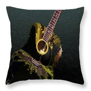 Guitar Abstract Throw Pillow