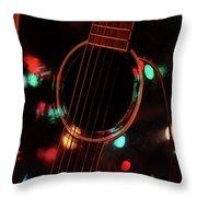 Guitar And Lights Throw Pillow